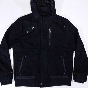 Burton Menswear Black Wool-Blend Warm Lined Jacket